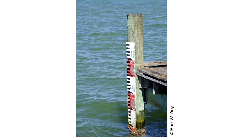 Oznaczenie poziomu wody
