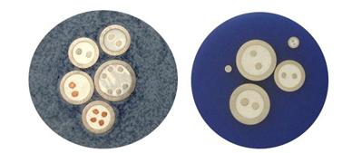 Mikroprzekrój różnych kabli w płaszczu