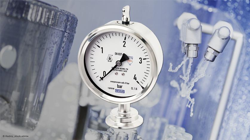 Manometr higieniczny: IP68 do czyszczeniu z zewnątrz.